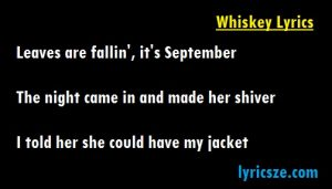 whiskey lyrics